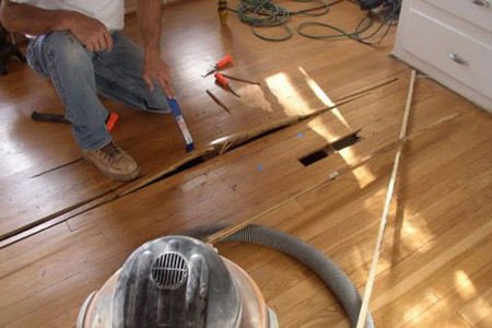 Flooring repairs trevino flooring for Hardwood floor repair