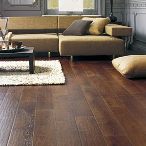 Laminate Plank Flooring allen roth 748 in w x 393 ft l gunstock oak smooth wood Laminate Flooring